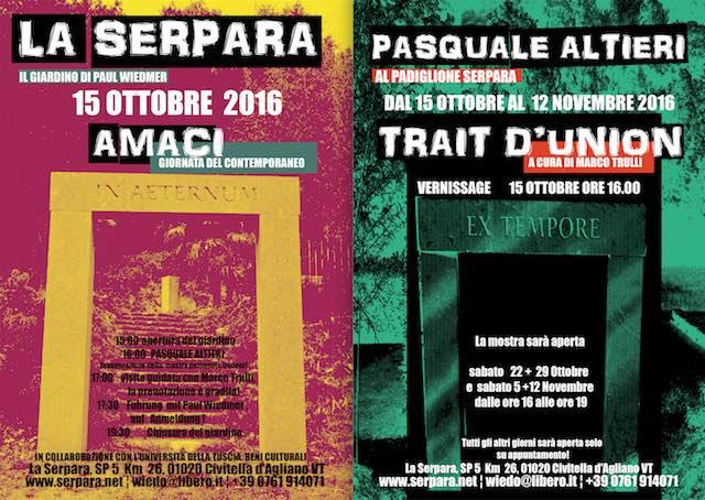 """Giornata del Contemporaneo a """"La Serpara"""", si inaugura la mostra """"Trait d'Union"""""""