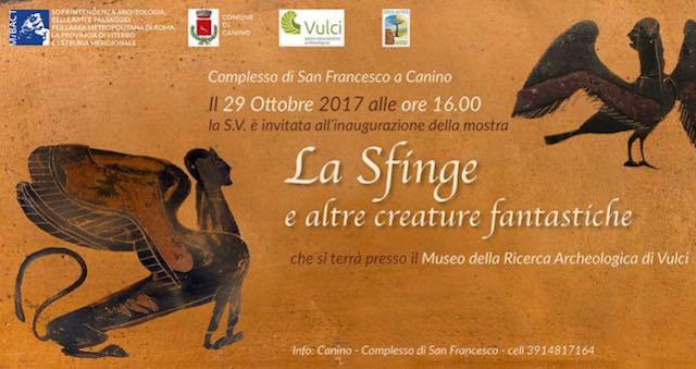 """""""La Sfinge e altre creature fantastiche"""" vanno in mostra nel complesso di San Francesco"""