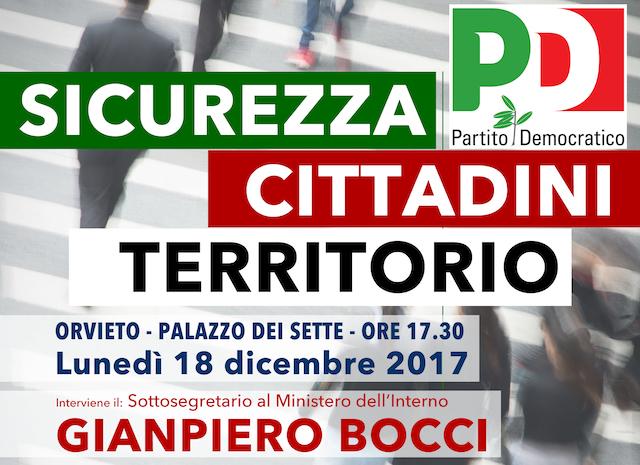 """""""Sicurezza, Cittadini, Territorio"""" incontro con il Sottosegretario Bocci"""