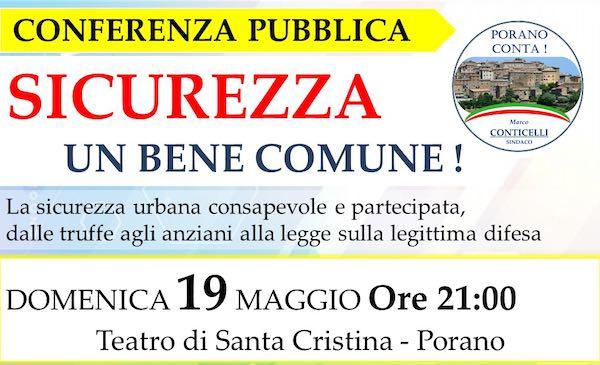 """""""Sicurezza, un bene comune!"""" al Teatro Santa Cristina"""