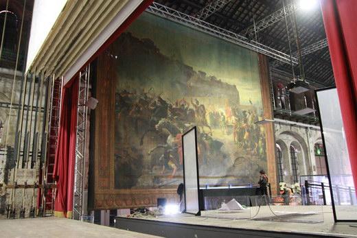 Il sipario storico del Teatro Mancinelli esposto a Torino per i 150 anni dell'Unità d'Italia