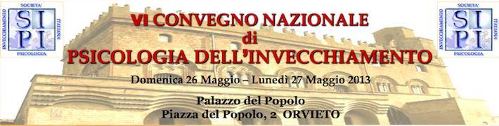 A Orvieto il VI Convegno nazionale SIPI di Psicologia dell'invecchiamento