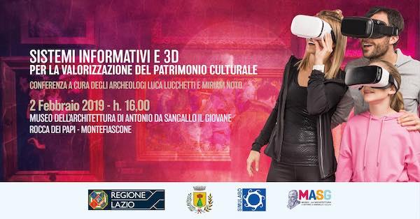 """""""Sistemi informativi e 3D per la valorizzazione del patrimonio culturale"""""""