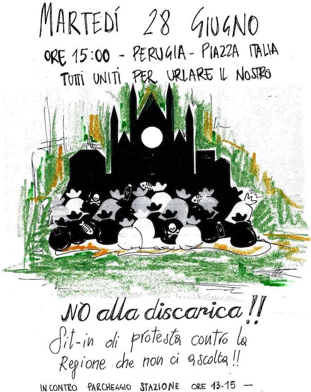 Manifestazione di protesta da Ciconia a Orvieto scalo