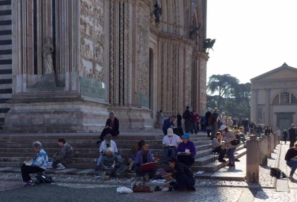 """Sketching di Orvieto, """"cattura una magnifica città collinare italiana in acquerello"""""""