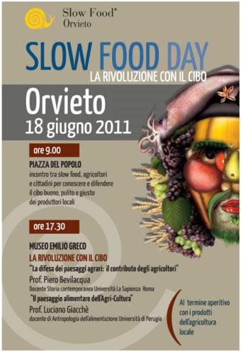 """Sabato 18 giugno I° Slow Food Day in 300 piazze italiane. A Orvieto eventi a Piazza del Popolo e Museo """"Emilio Greco"""""""