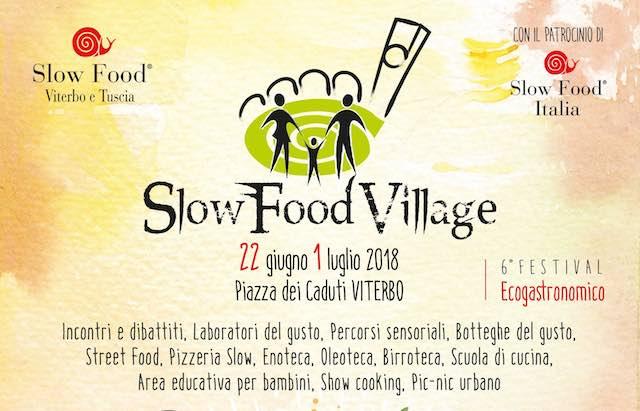 """""""Slow Food Village"""". Sesta edizione per il Festival Eco-Gastronomico"""