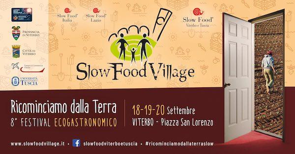 """Ottava edizione per lo Slow Food Village. """"Ricominciamo dalla Terra"""""""