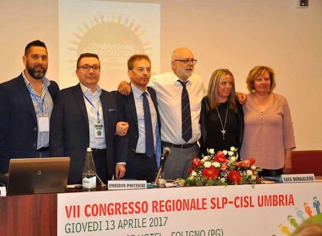 Umberto Pocceschi confermato alla guida della Slp Cisl Umbria