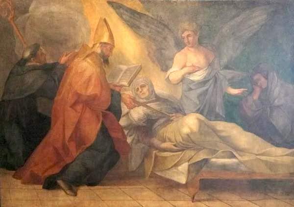 Collocati alle pareti della Chiesa di Villanova i primi tre affreschi