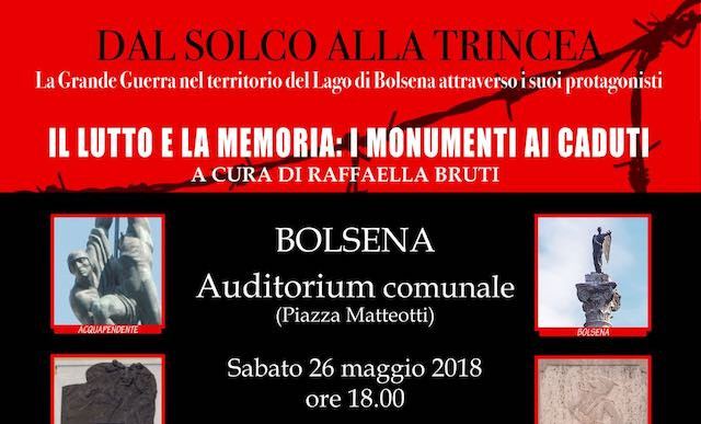 """I Comuni del Sistema Bibliotecario """"Lago di Bolsena"""" e il ricordo della Grande Guerra"""