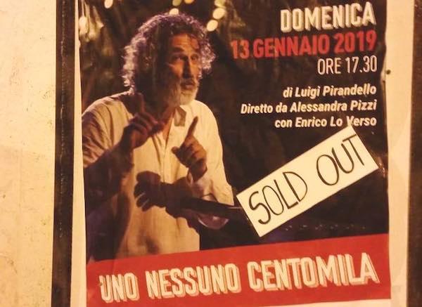 Tutto esaurito al Teatro Salvini per il Pirandello di Enrico Lo Verso