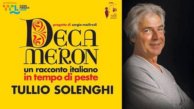 Tullio Solenghi interpreta Giovanni Boccaccio al Teatro Boni