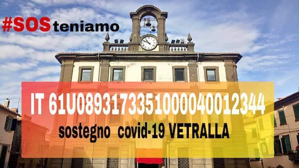 """""""Sosteniamo Vetralla"""", già raccolti circa 3.000 euro"""