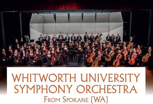 Whitworth University Symphony Orchestra in concerto nella Chiesa di Sant'Andrea