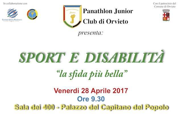 """""""Sport e disabilità: la sfida più bella"""". Incontro con il Panathlon Junior"""