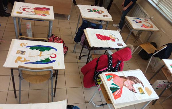 Gli alunni delle scuole realizzano gli stendardi di San Michele patrono