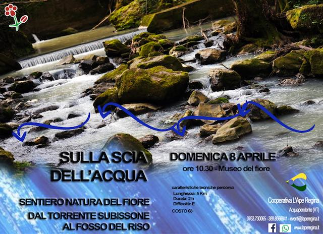 """""""Sulla scia dell'acqua"""". Sentiero Natura del Fiore, dal Torrente Subissone al Fosso del Riso"""