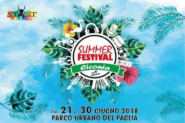 """""""Ciconia Summer Festival 2018"""" al Parco Urbano del Paglia"""