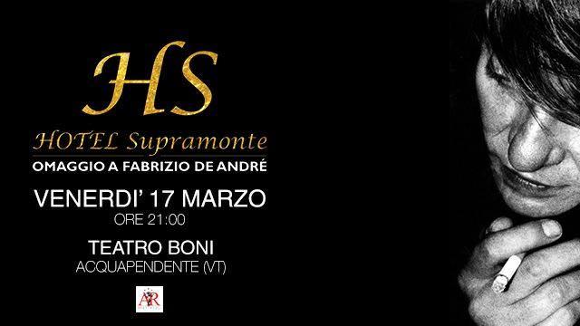 Omaggio a Fabrizio De Andrè. Hotel Supramonte in concerto al Teatro Boni