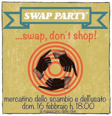 Swap, Don't Shop! Arriva il Mercatino dello Scambio