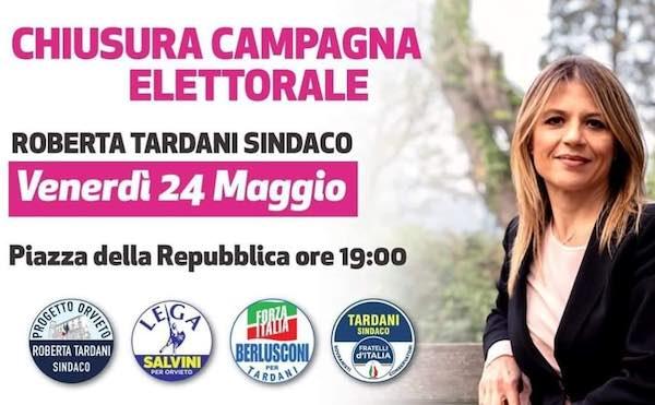 Tardani chiude la campagna elettorale in Piazza della Repubblica