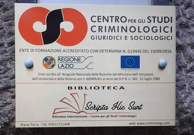Al via i weekend formativi del Centro per gli Studi Criminologici sul Patrimonio Culturale
