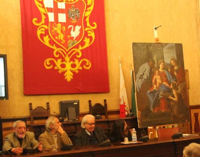 """Nel giorno di S.Lucia, disvelata la tela della dedicazione della città. """"Orvieto Pulita"""" con la cultura"""