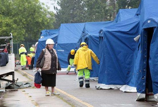 Finale Emilia Campo 6: sono 122 le persone rimaste nella Tendopoli...