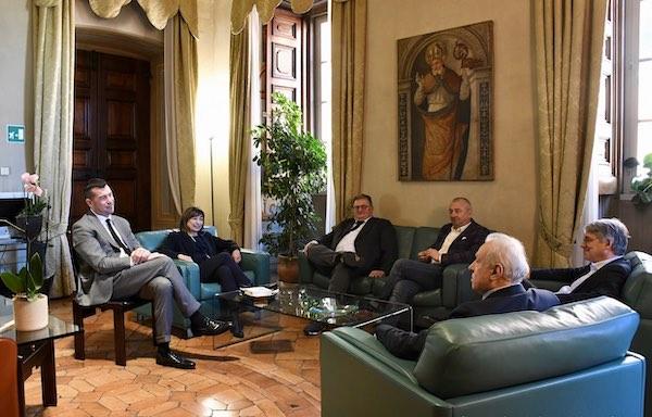 Donatella Tesei riceve a Palazzo Donini i vertici delle organizzazioni sindacali