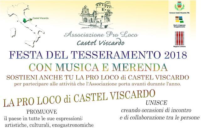 """""""Festa del Tesseramento"""" per la nuova Pro Loco con musica e merenda"""