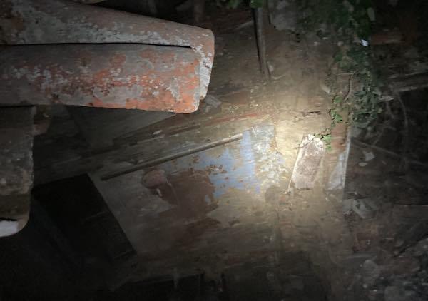Nella frazione di Cantone crolla il tetto di una casa disabitata