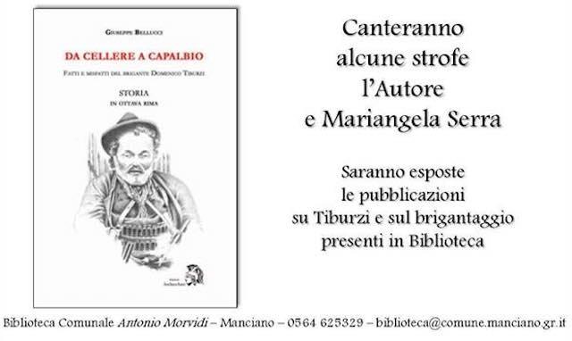 """Si presenta """"Da Cellere a Capalbio. Fatti e misfatti del brigante Domenico Tiburzi"""""""