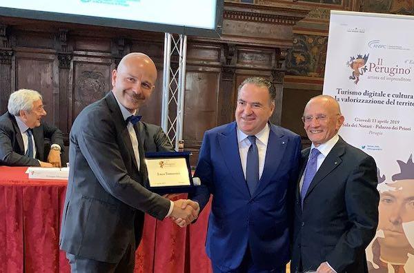 """A Luca Tomassini (Vetrya), il Premio """"Il Perugino. Artista e Imprenditore"""" 2019"""