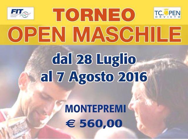 Tennis. Torneo Tc Open Maschile, aperte le iscrizioni