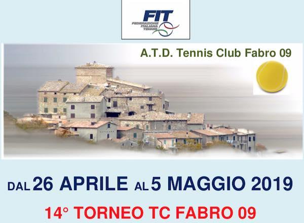 Via al Torneo TC Fabro 09 - Singolare Maschile 3° e 4° Categoria
