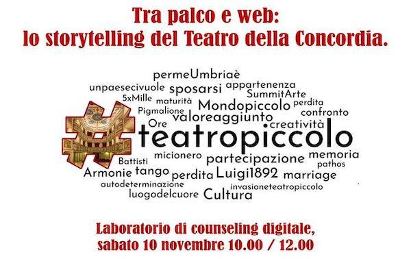 """""""Tra palco e web: lo storytelling del Teatro della Concordia"""""""