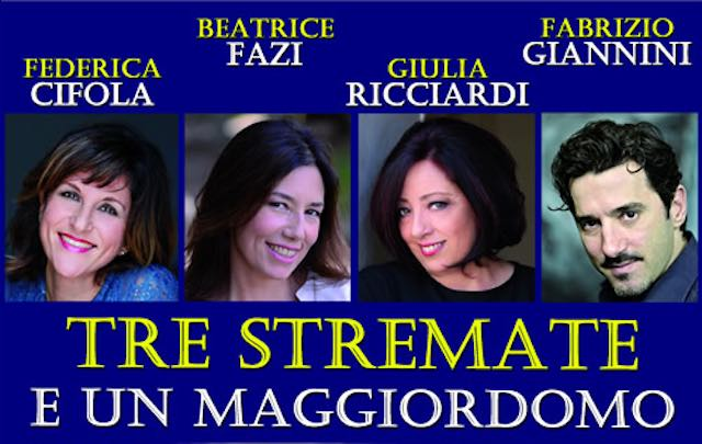 """Al Teatro Bianconi, la commedia """"Tre stremate e un maggiordomo"""""""