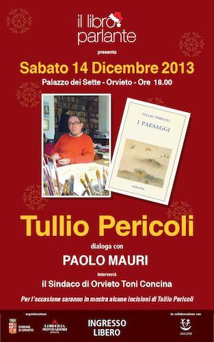 Al Libro Parlante, Tullio Pericoli dialoga con Paolo Mauri. In mostra, alcune incisioni