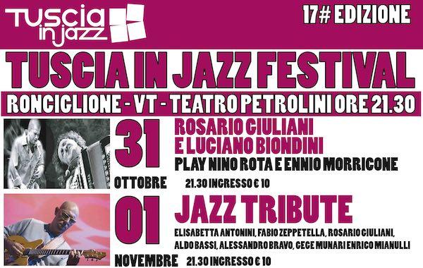 Tuscia in Jazz Festival, aprono Rosario Giuliani e Luciano Biondini