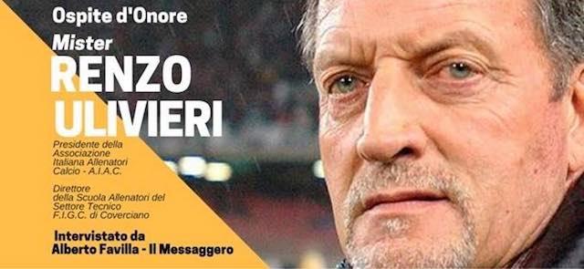 """Mister Renzo Ulivieri incontra Alviano per """"10 righe e un tè - Sport Edition"""""""