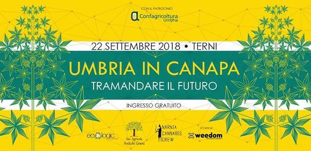 """""""Umbria in Canapa 2018"""". Focus sulla canapa tra convegni, mostre, degustazioni e concerti"""