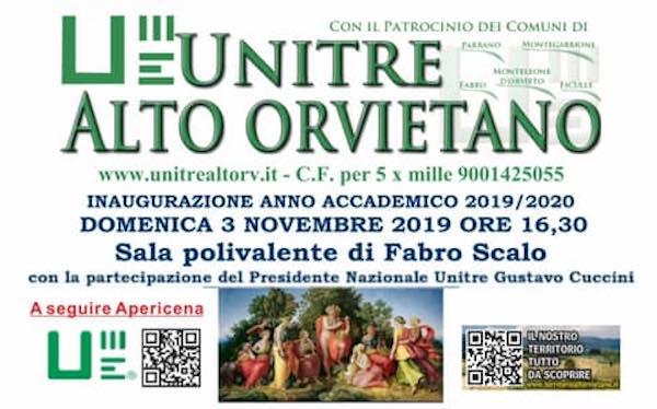 L'Unitre Alto Orvietano inaugura il nuovo Anno Accademico