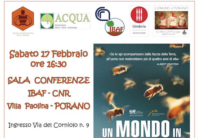 "Proiezione del film-documentario ""Un mondo in pericolo. More than honey"""