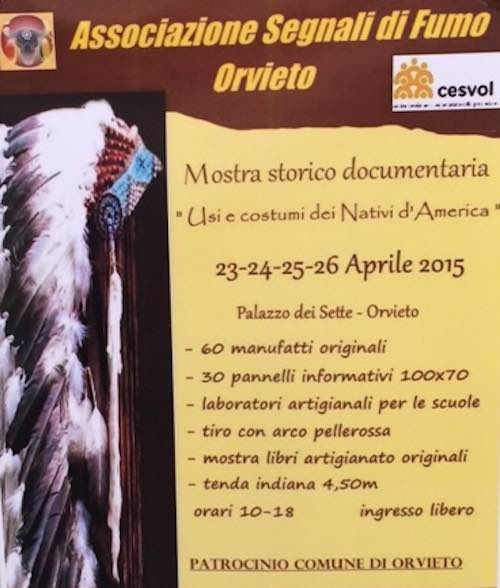 """""""Usi e costumi dei Nativi d'America"""" in mostra al Palazzo dei Sette"""