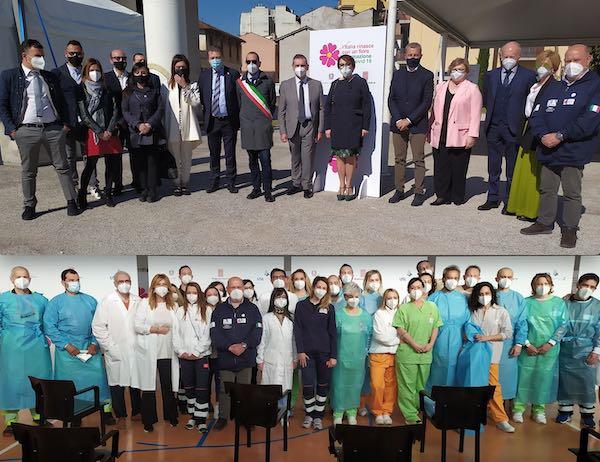 Inaugurato il nuovo punto vaccinale territoriale dell'Usl Umbria 2