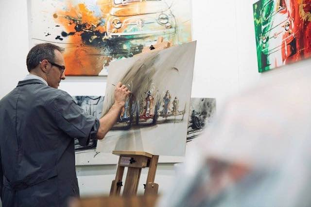 """Rafael Varela realizza un quadro per i trenta anni dell'Associazione """"Piero Taruffi"""""""