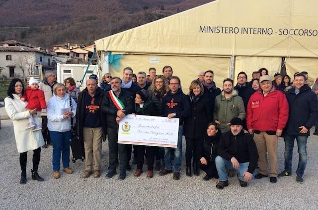 San Venanzo solidale, a San Pellegrino di Norcia per consegnare le cifre raccolte