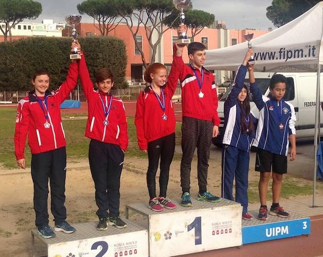Asd Pm Pertica Orvieto: Vice Campioni Nazionali al campionato italiano a staffetta di pentathlon moderno