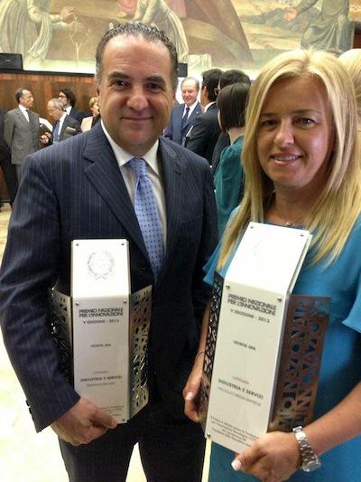 Vetrya riceve due premi nazionali per l'innovazione 2013